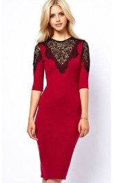 EU Inspired Lacy Red Dress