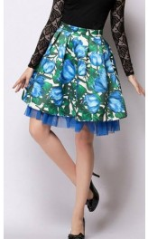 Duo Layer Floral Skirt
